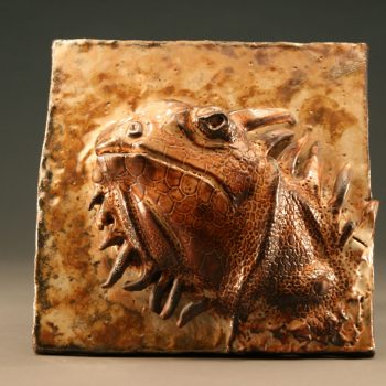 West Fork Studio Iguana Tile By Mimi Booth